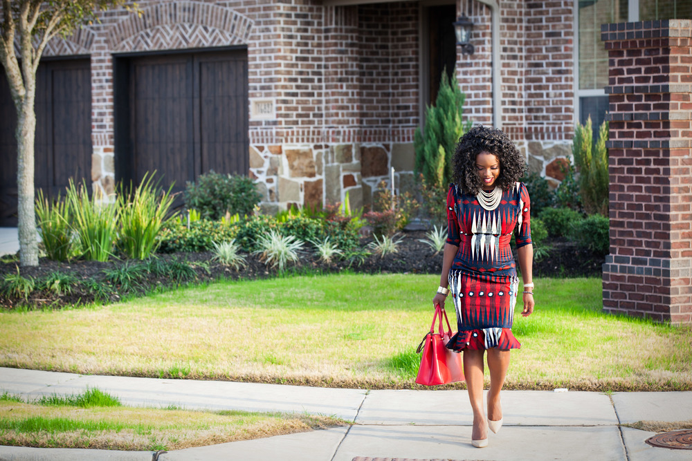Jokotade Fashion and Style Blogger Afro Countess Wax Print Dress From Attolle Clothiers