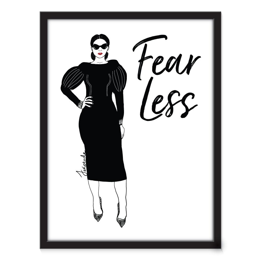 Fearless woman fashion art jokotade