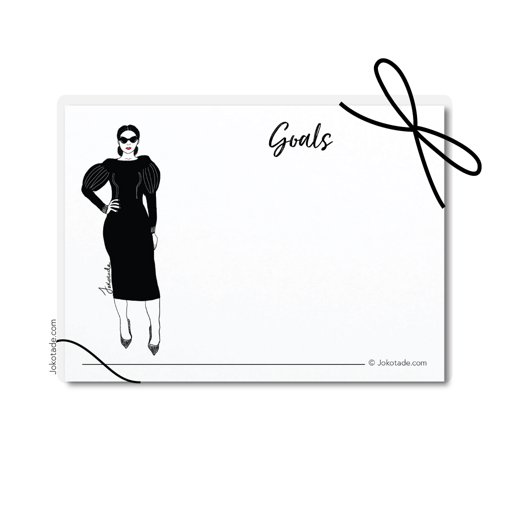 Fearless Goal Setting Cards Box — Jokotade