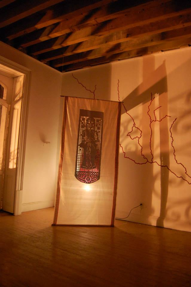 Artwork by Nidhi Khurana, on display at the R.A.T.residency space. Image courtesy: Nidhi Khurana