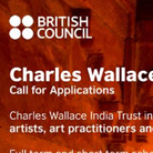 Charles Wallace India Trust Award | Call for applications | Deadline 15 November 2014