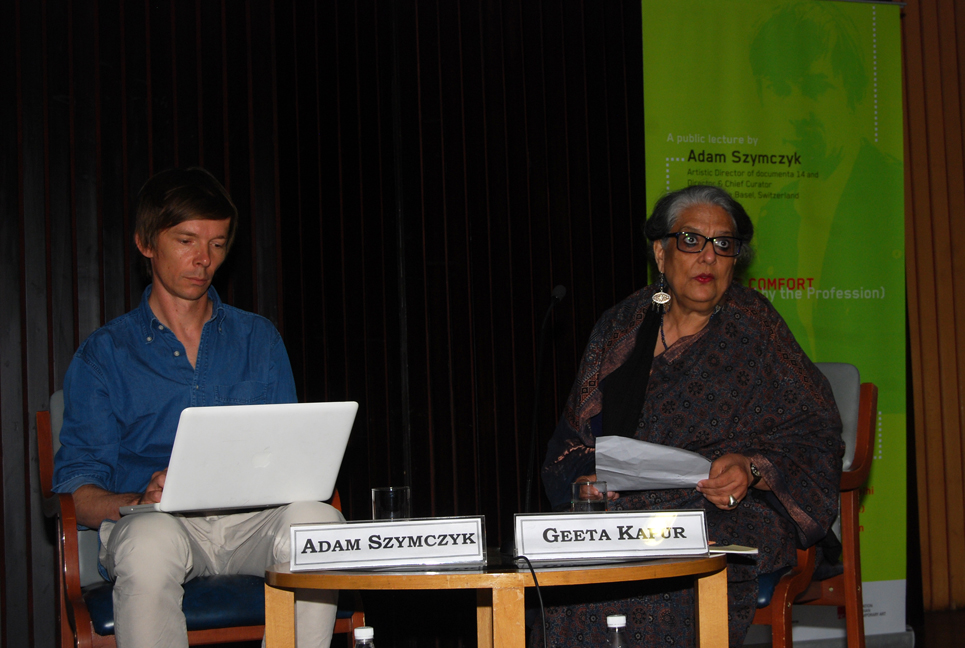 Adam Szymczyk with Geeta Kapur