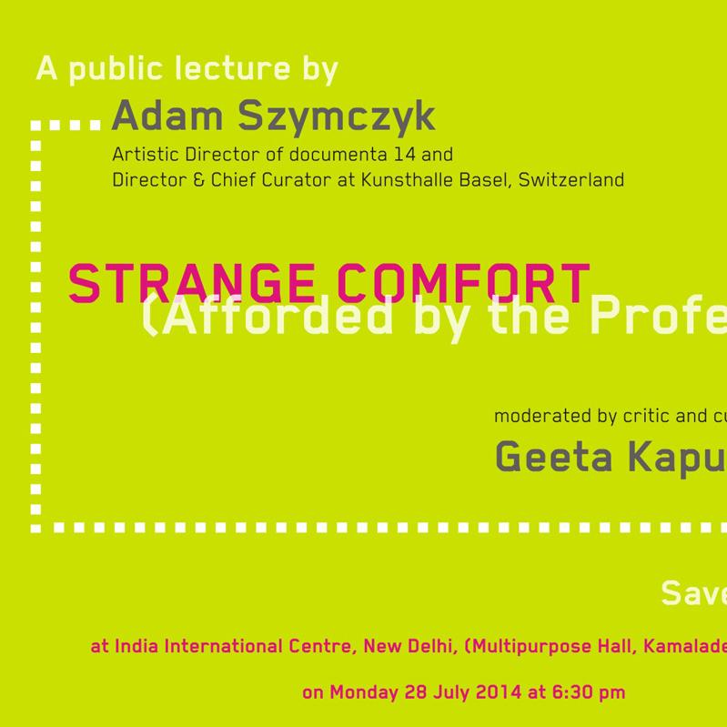 PUBLIC LECTURE BY ADAM SZYMCZYK