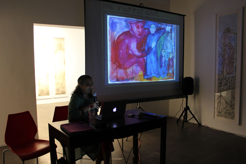 Manisha Parekh presenting her work from her college days
