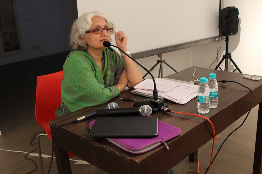 Chandrika Grover  Ralleigh, Director Pro Helvetia Swiss Arts Council, New Delhi speaking about her experience in the arts