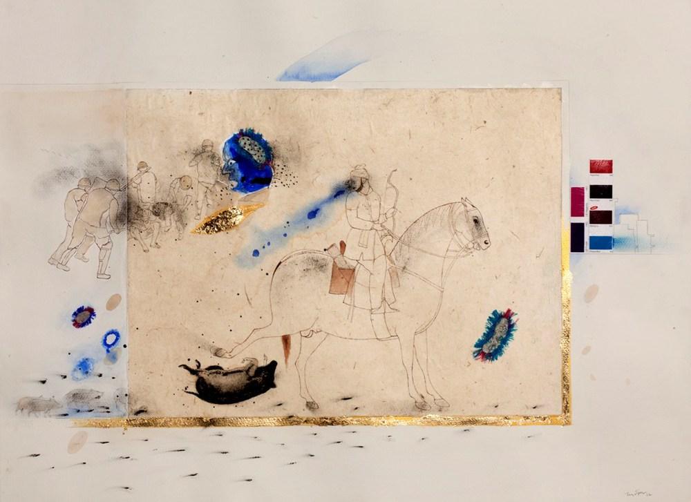 "Jagannath Panda |Untitled |Mixed Media on paper |22"" x 30"" |2012"