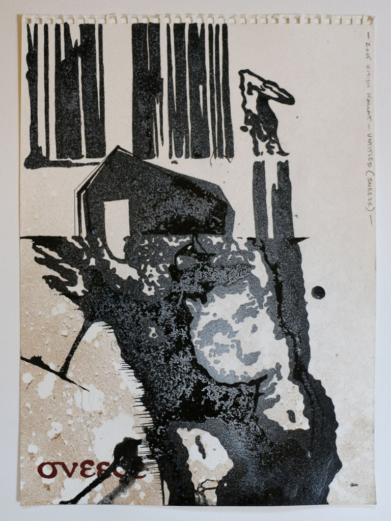"Jitish Kallat |Untitled (Sneeze) |Mixed media on paper |15"" x 11"" |2005"