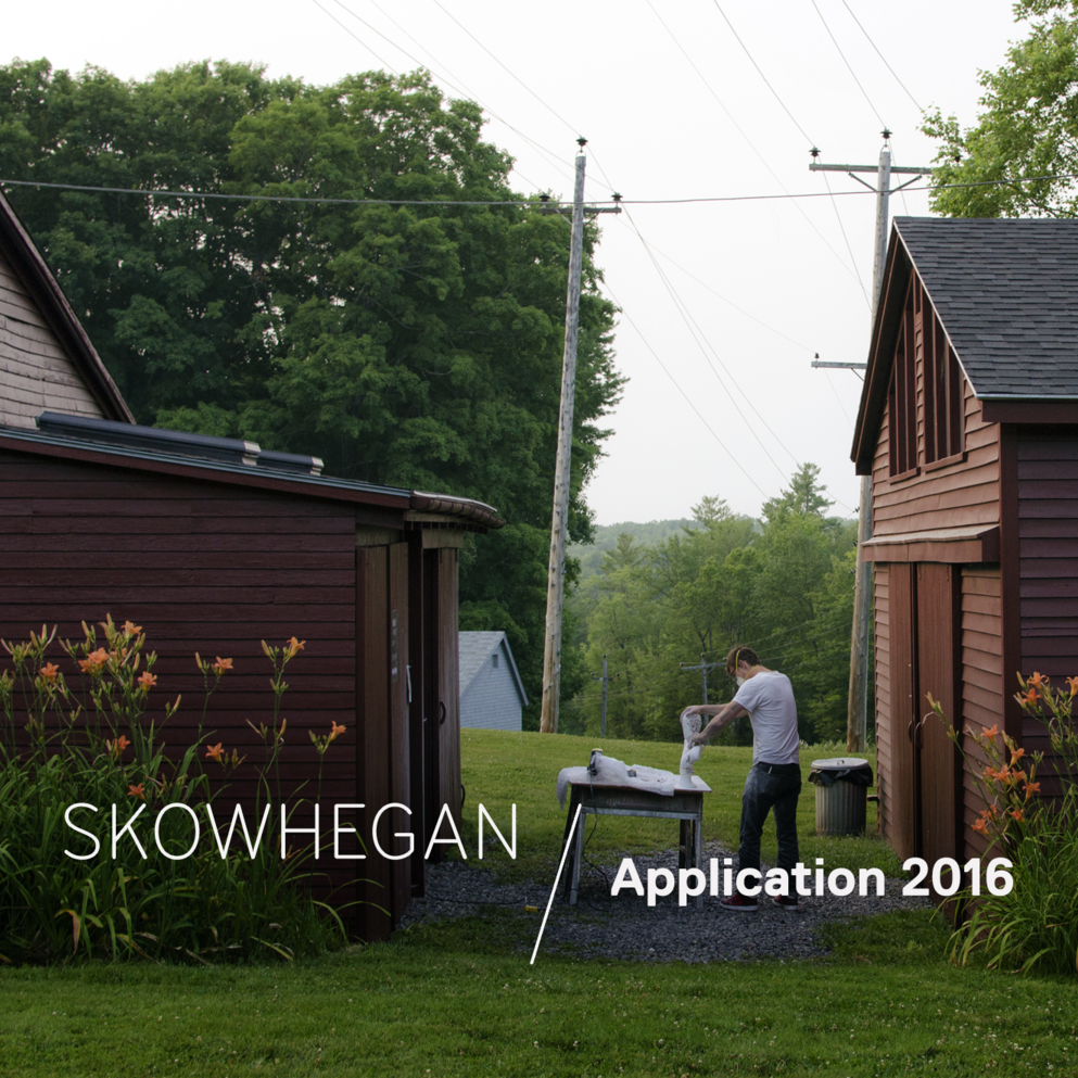 Call for an artist residency at Skowhegan, USA | Deadline for applications: 11:59pm (EST), 21 January 2016