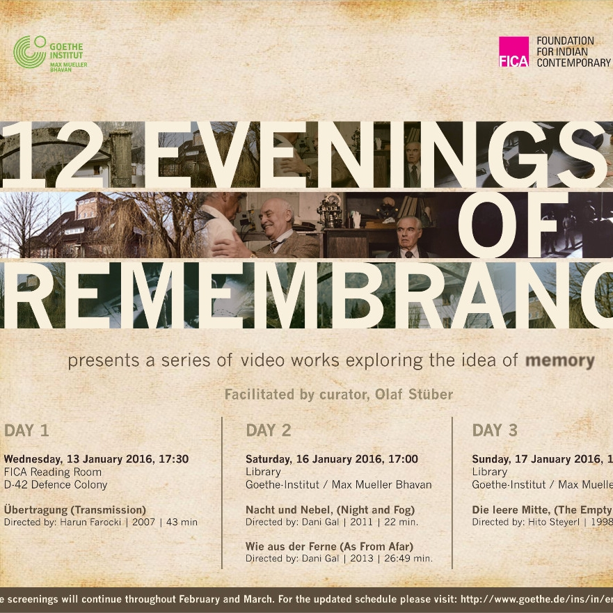 12 evenings of rememberance