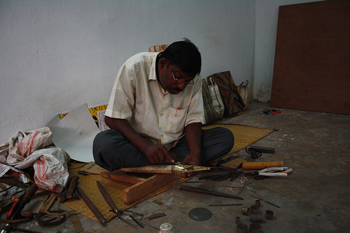 Metal craftsman from Odisha