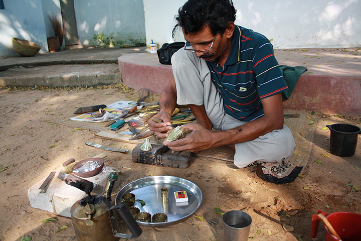 Mrugen's work with mastercraftsmen of Odisha to explore the dying arts of Brass Fish making