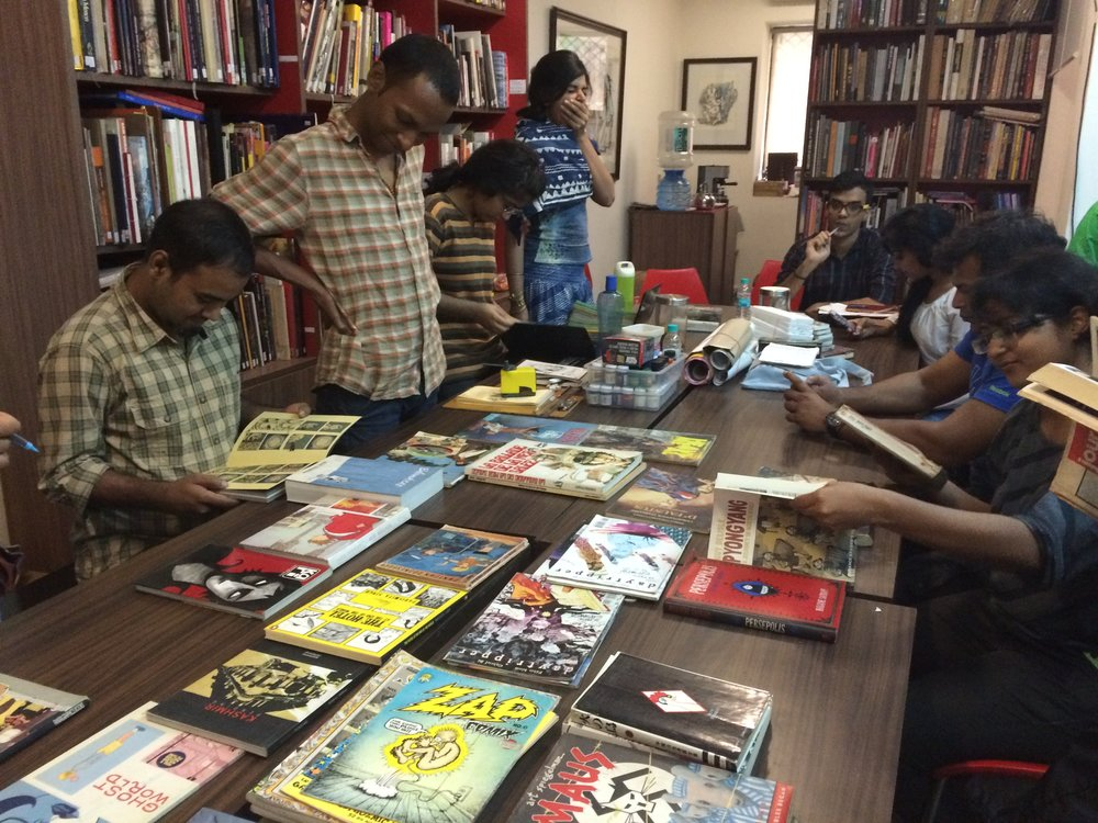 workshop on comics by orijit sen | fica masterclass series