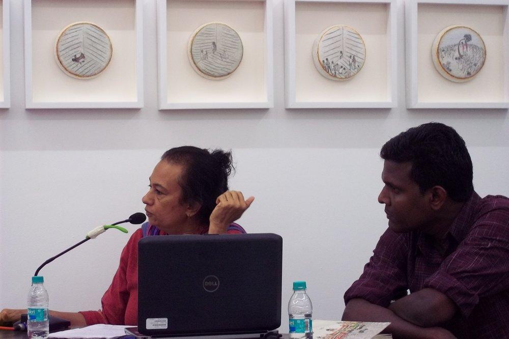 INSTITUTIONALIZING PRACTICE AND PRACTICING THE INSTITUTION | vasudha thozhur and santhosh sadanand