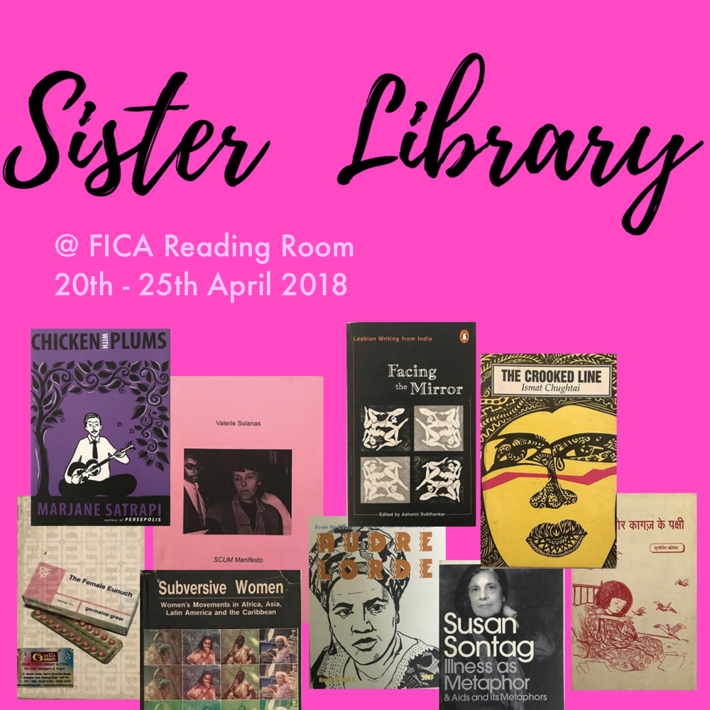 Sister Library AT THE FICA Reading Room | April 20 - 25, 2018