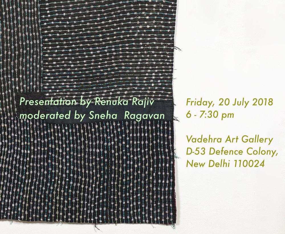 Talk and presentation by Renuka Rajiv | 20 July 2018