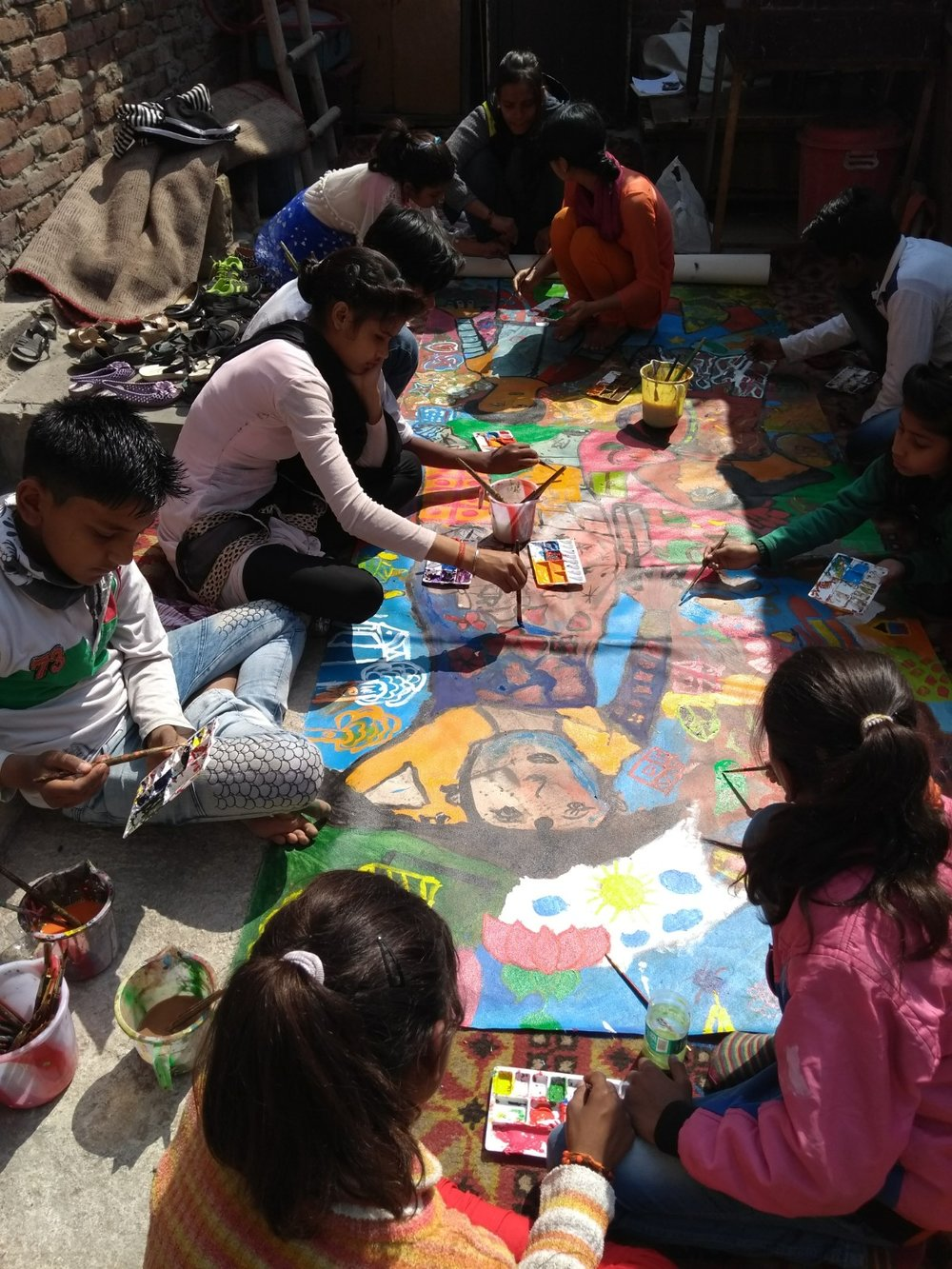 weekly art sessions in dilshad garden | in collaboration with cfar