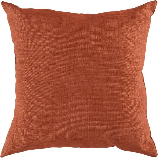 Marvelous Solid Indoor Outdoor Pillow In Orange
