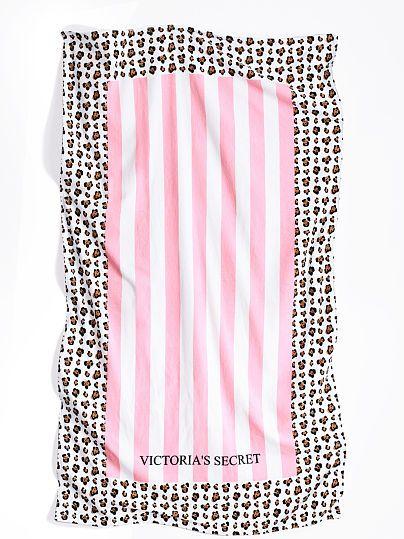 VS Stripe/Leopard Beach Towel (Available Online)