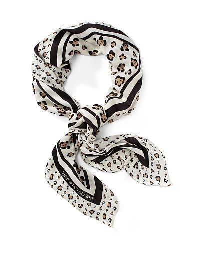 VS Logo/Leopard Scarf (Available Online)