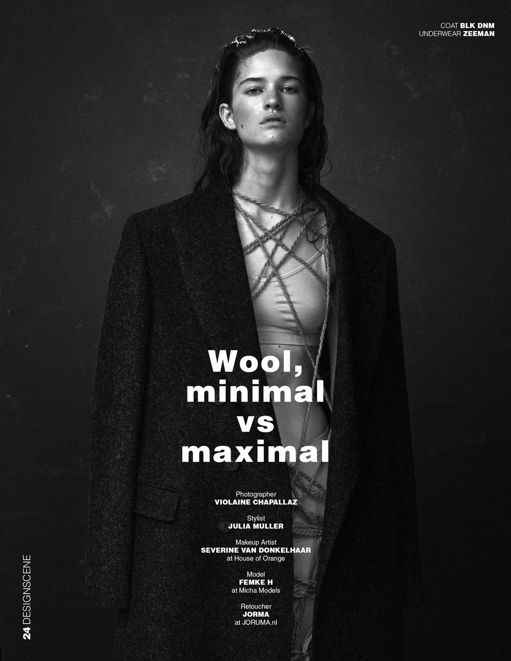 DESIGN SCENE | PHOTOGRAPHY Violaine Chapallaz | MUAH Severine Donkelaar @ House of Orange | MODEL Femke @ Mischa Models