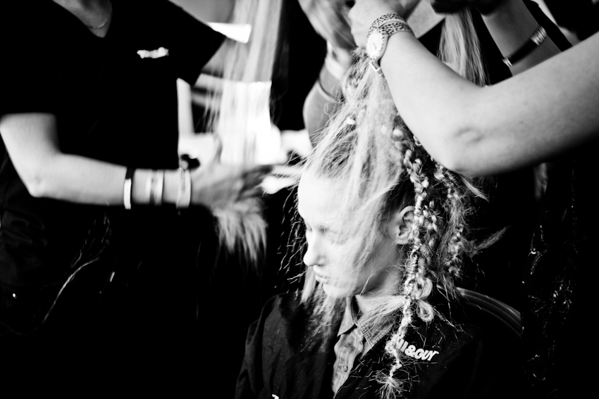 Toni & Guy hair backstage