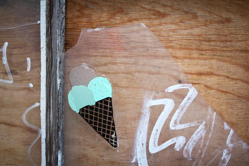 Ice cream flavored graffiti