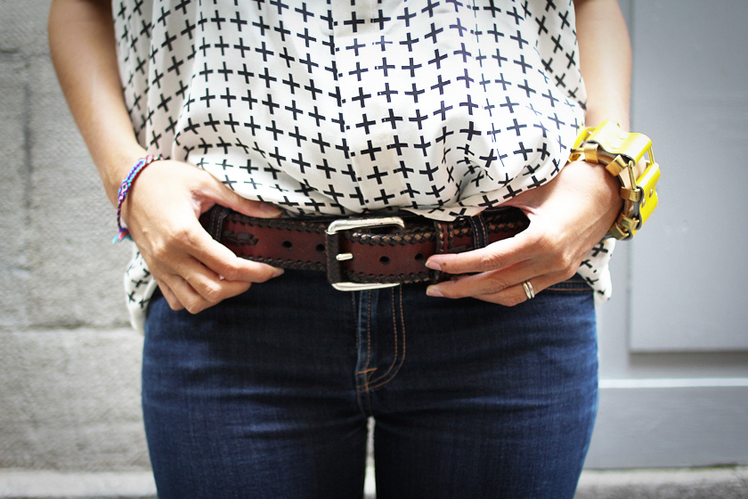 Michael Kors belt and Moxham bracelet