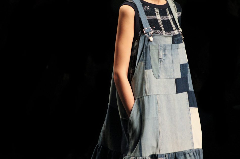 Ashish, sequins, denim, patches, overalls, london fashion week