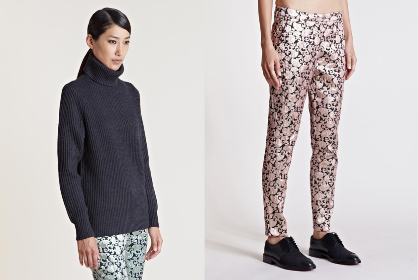 Dries Van Noten Tancko Roll Neck Sweater and Pala Pants.