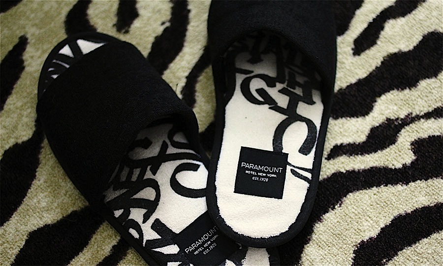 Paramount Hotel slippers