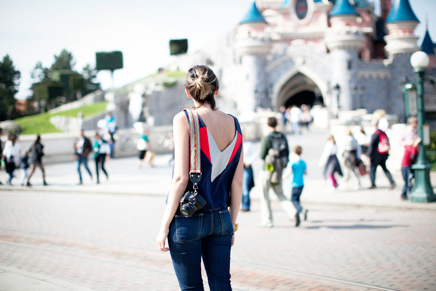 Jennifer Inglis at Disneyland Paris wearing Riyka top