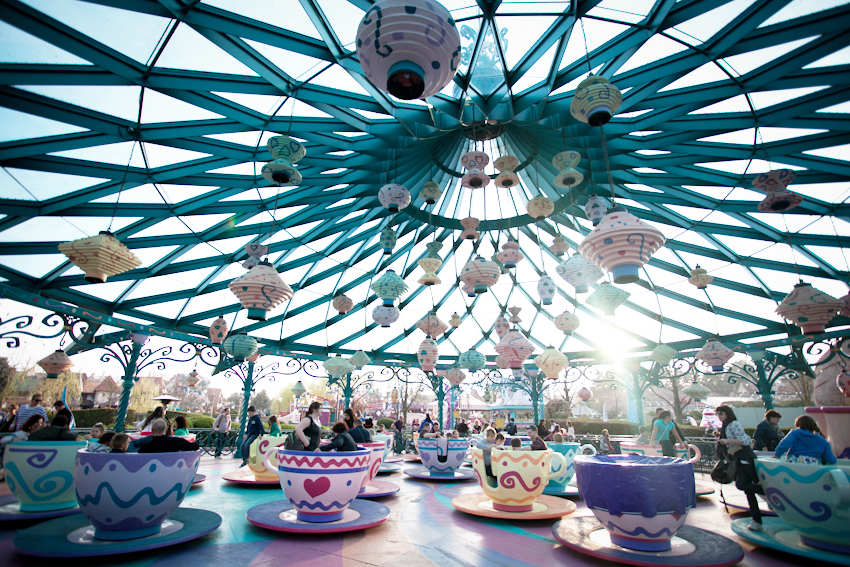 Disneyland Paris the teacups ride