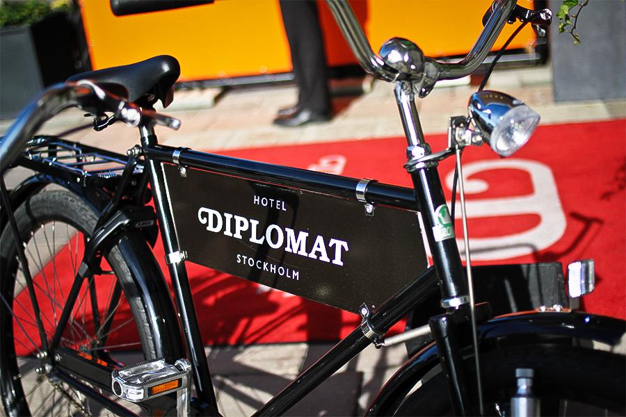 Hotel Diplomat bike in Stockholm