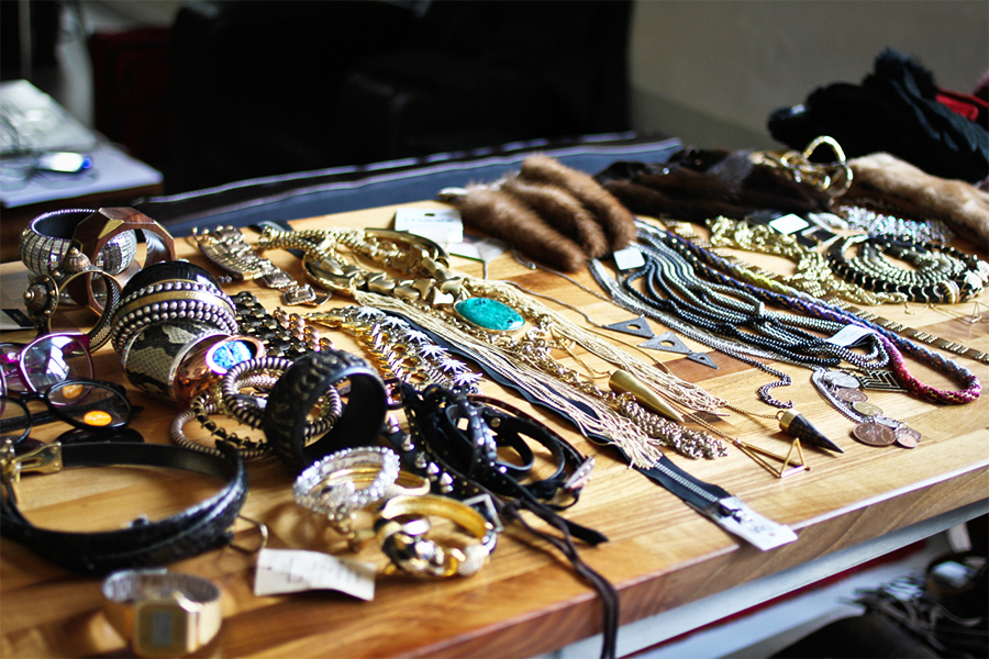 Jewelry at the eBay shoot