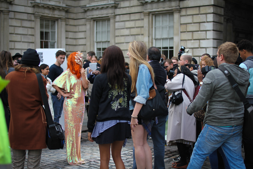 Paloma Faith outside Ashish SS14