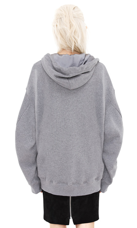 Acne bit fleece grey melange sweatshirt