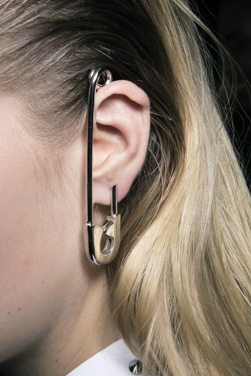 Viktor and Rolf safety pin earring