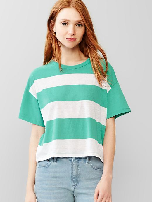 Gap Stripe Crop Tee