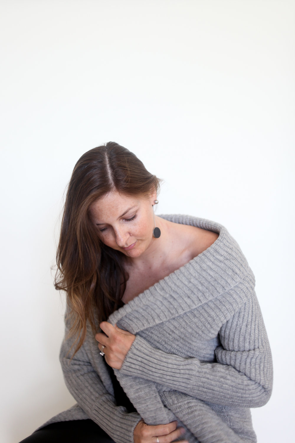 KONZUK jewelry & Celtic & Co. sweater on The Style Crusader