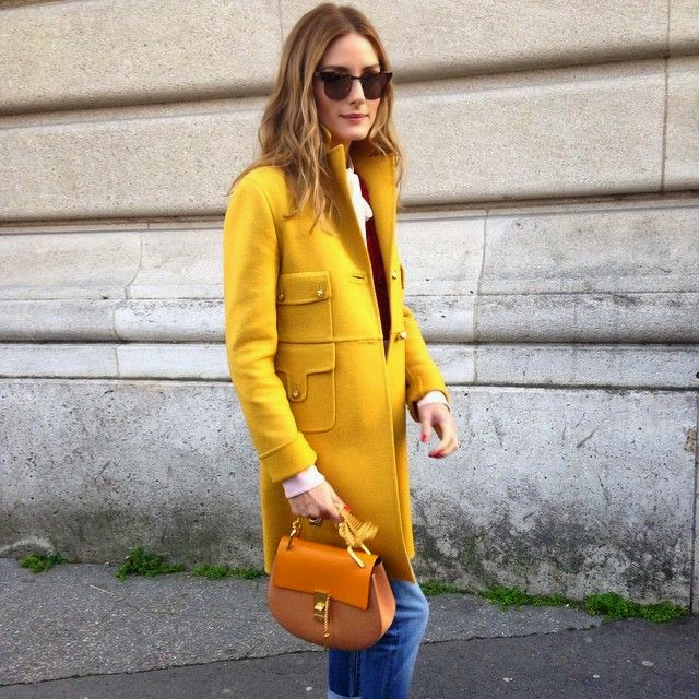 Olivia Palermo in yellow