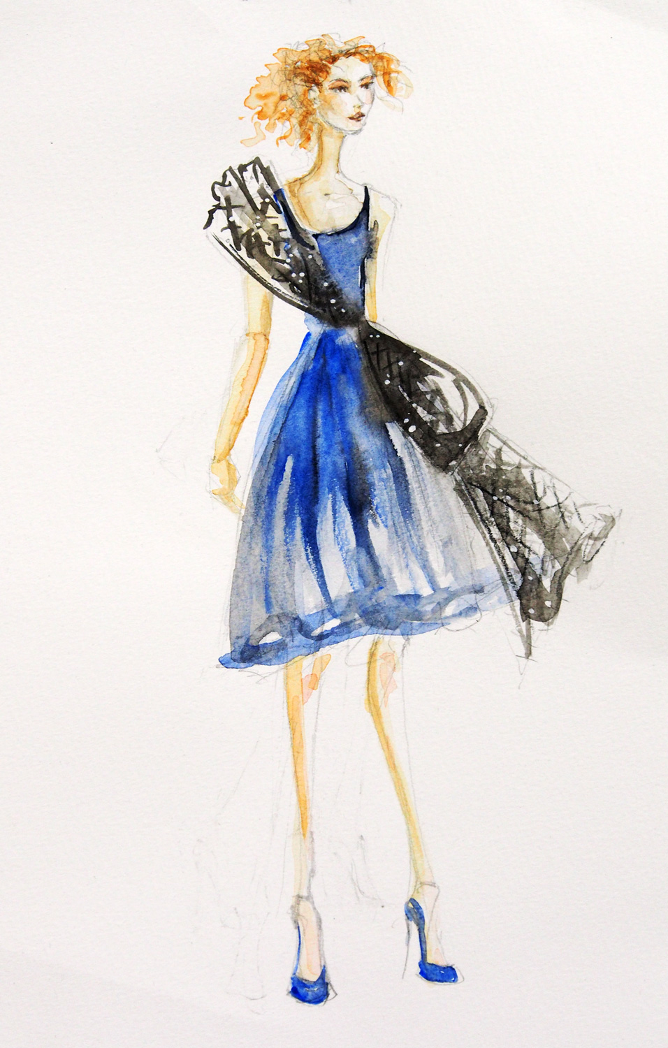 Caro's Gown Design Illustration
