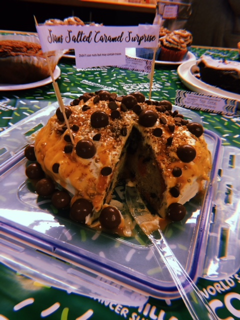 Sian's Salted Caramel Surprise, complete with Leopard Print sponge!