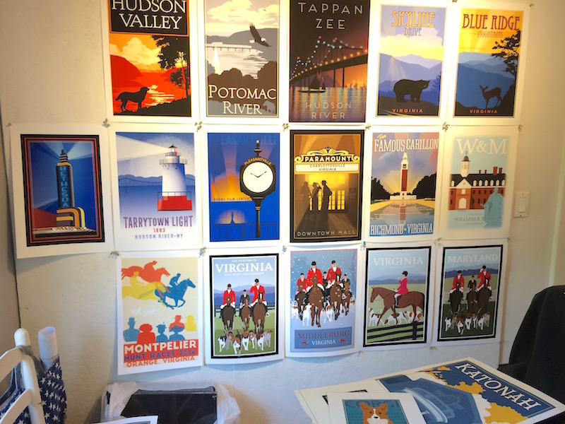 Found myself struggling last week. Maybe too many directions, so needed to remember my successful posters and hung them in my tiny studio.
