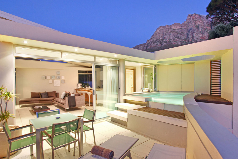 Balcony and plunge pool
