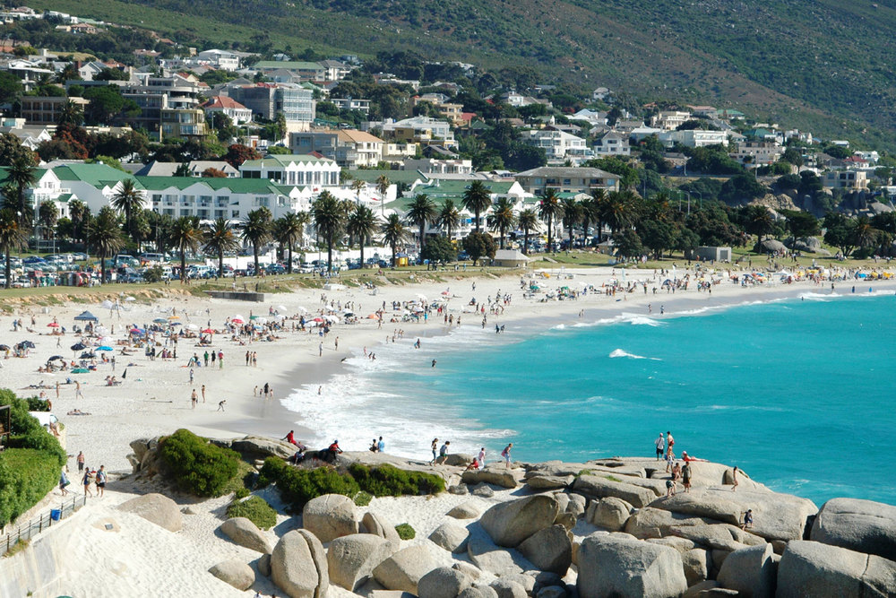 Camps Bay beach viewed from Glen Beach