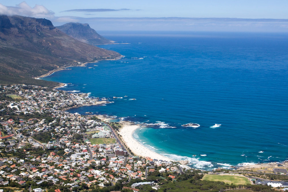 Camps Bay from the top of Lion's Head