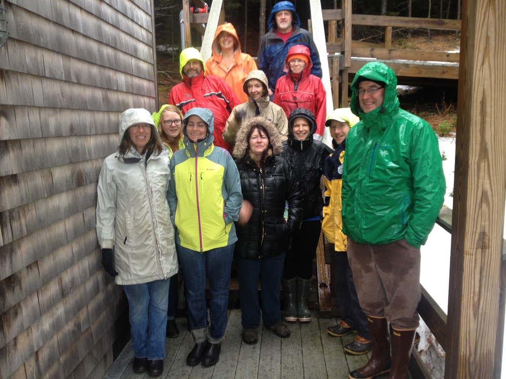 Workshop attendees tour the Bowdoin Coastal Studies Center in Harpswell, ME.