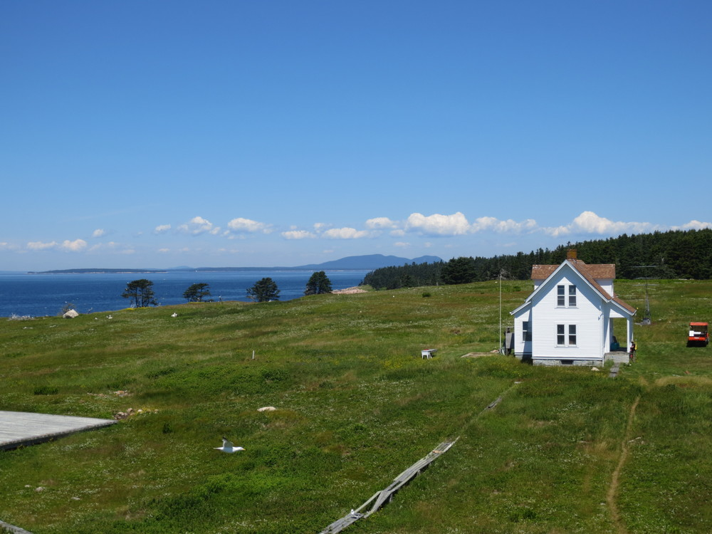 View of the keeper's house from the lighthouse.