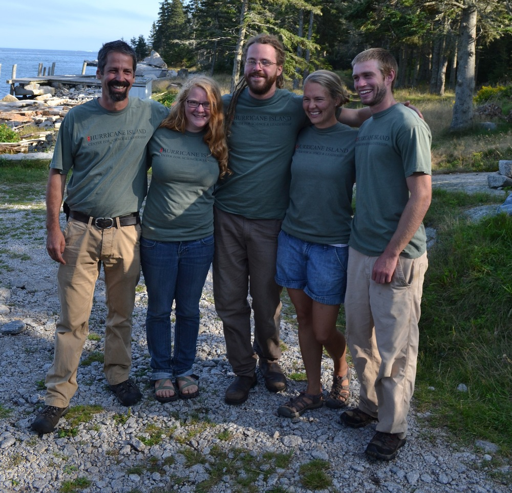 2012 Island Staff: L-R John Dietter, Alice Anderson, Patrick Haigh, Joy Longellow, Addison Godine, Not Pictured- Emily Gannon