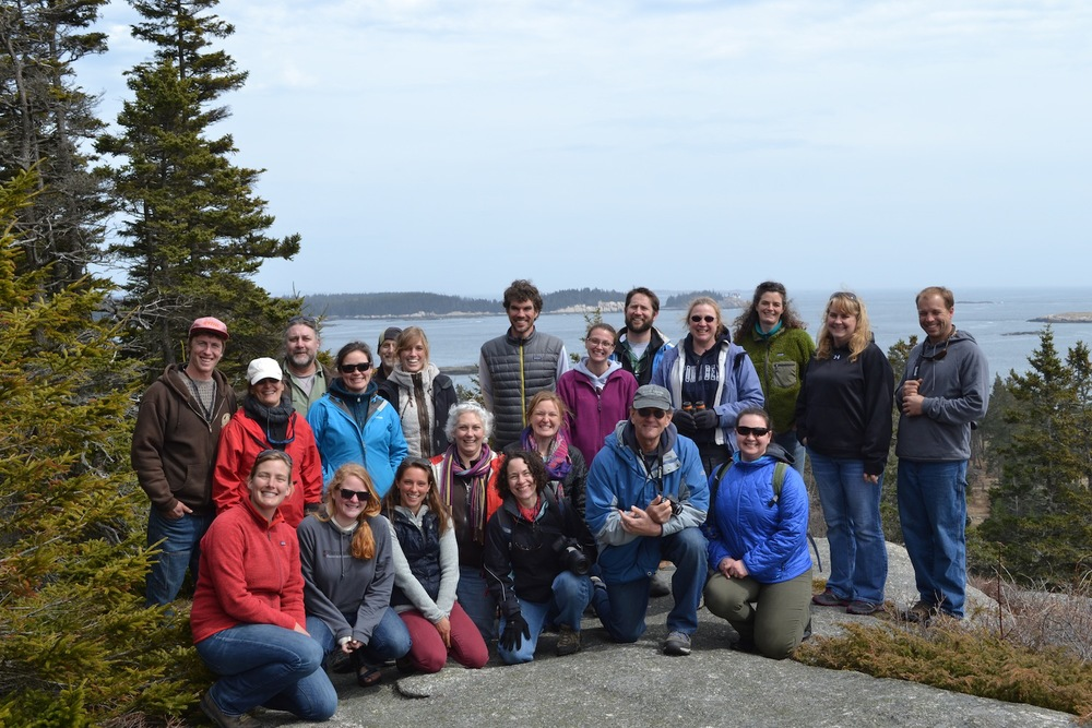 Participants from the 2014 Teacher Day enjoy the view from the high cliffs